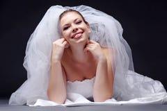 快乐的新娘 免版税图库摄影