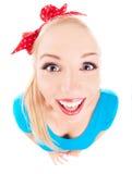 快乐的滑稽的女孩 免版税库存图片