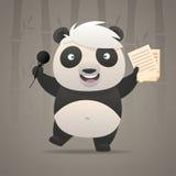 快乐的熊猫唱歌曲并且跳舞 免版税图库摄影