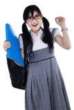 快乐的聪明的学生 免版税图库摄影