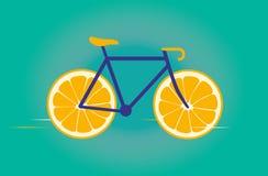 快乐的自行车 库存图片