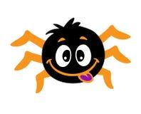 快乐的蜘蛛显示舌头 免版税库存图片