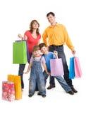 快乐的购物 免版税库存图片