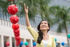 快乐的高级妇女 免版税库存照片