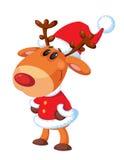 快乐的鹿圣诞老人 免版税库存图片