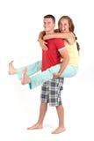 快乐的年轻夫妇 免版税图库摄影