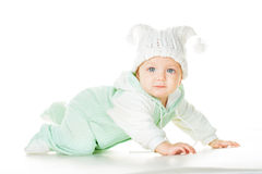 快乐的婴孩六个月 库存照片