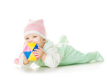 快乐的婴孩六个月 库存图片