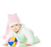 快乐的婴孩六个月 图库摄影