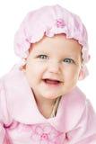 快乐的婴孩六个月 免版税图库摄影