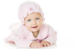 快乐的婴孩六个月 免版税库存图片