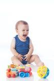快乐的婴孩 免版税库存照片