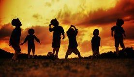 快乐的年轻男孩的多张图片 免版税库存图片