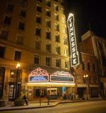 快乐街道,诺克斯维尔,田纳西,夜生活在诺克斯维尔的中心 免版税库存图片