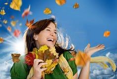 快乐1的秋天 图库摄影