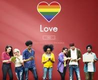 快乐LGBT均等纠正同性恋概念 免版税库存图片