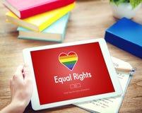 快乐LGBT均等纠正同性恋概念 库存图片