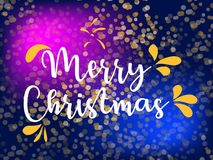 快活圣诞节的例证 传染媒介商标,印刷术 能用作为横幅、贺卡,礼物包裹等 库存图片