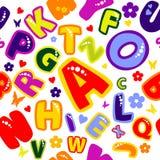 快活字母表的背景 免版税图库摄影