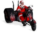 快活的克劳斯回报圣诞老人xmas 库存图片
