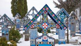 快活的公墓冬时 免版税库存照片