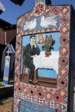 快活的公墓在Sapanta,罗马尼亚 免版税库存照片