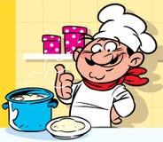 快活的厨师 库存照片