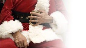 快活的圣诞老人腹部 库存图片