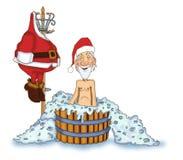 快活的圣诞老人 库存照片