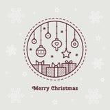 快活的圣诞节 也corel凹道例证向量 免版税图库摄影