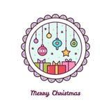 快活的圣诞节 也corel凹道例证向量 免版税库存照片