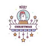 快活的圣诞节 也corel凹道例证向量 图库摄影