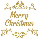 快活的圣诞节 圣诞节书法 手写的现代刷子字法 设计被画的要素现有量  皇族释放例证