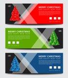 快活的圣诞节 横幅模板 登广告者做广告 飞行物布局 向量例证