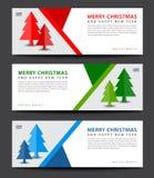 快活的圣诞节 横幅模板 登广告者做广告 飞行物布局 库存例证