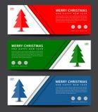 快活的圣诞节 横幅模板 登广告者做广告 飞行物布局 CH 库存例证