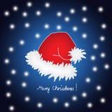 快活盖帽的圣诞节 向量例证