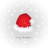 快活盖帽的圣诞节 库存例证