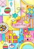 快活看板卡的圣诞节 库存例证