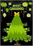 快活看板卡的圣诞节 图库摄影