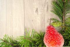 快活背景的圣诞节 新年度 树装饰品 库存照片