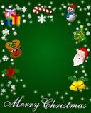 快活背景的圣诞节 向量例证