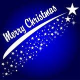 快活背景蓝色的圣诞节 库存例证