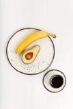 快的平衡的早晨快餐用果子 库存照片