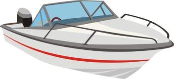 快艇或汽艇 库存例证