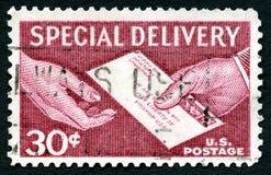 快递美国邮票 免版税库存照片