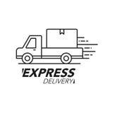 快递象概念 运送服务,命令,全世界 免版税图库摄影