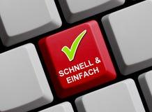 快速和容易的网上德语 免版税库存照片