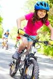 快速地骑自行车者 库存照片