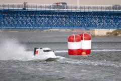 快速快速汽艇赛跑 免版税图库摄影
